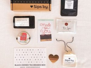 A box with tea from Black